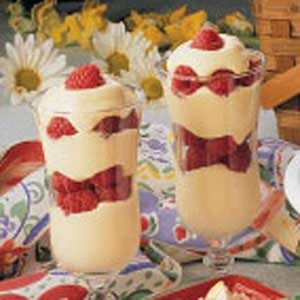 Raspberry Vanilla Pudding Parfaits Recipe