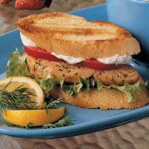Dilly Chicken Sandwiches Recipe