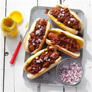 My Favorite Chili Dogs Recipe