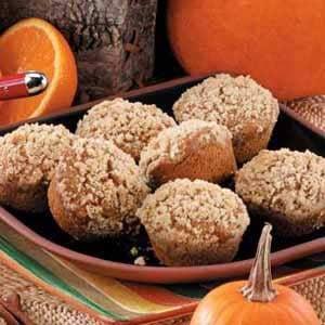 Streusel Pumpkin Muffins Recipe