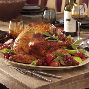 Apple-Sage Roasted Turkey Recipe