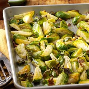 Roasted Brussels Sprouts with Hazelnuts Recipe