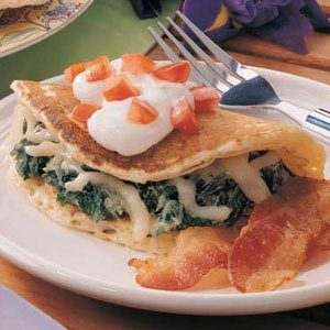 Spinach Pancake Quesadillas Recipe