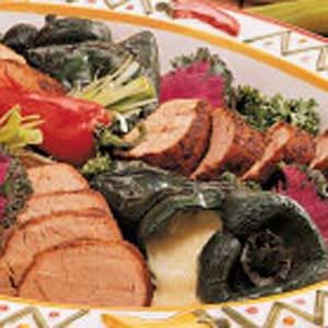 Grilled Pork and Poblano Peppers Recipe