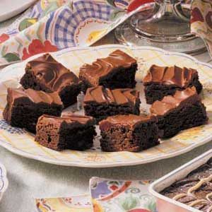 Glazed Chocolate Chip Brownies Recipe