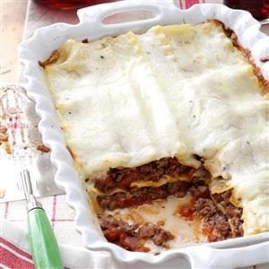 Lasagna with White Sauce Recipe