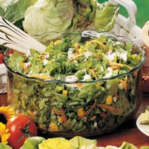 Lettuce with Blue Cheese Dressing Recipe