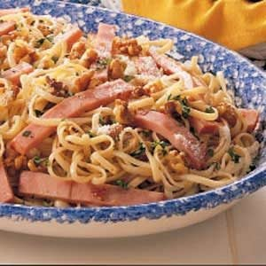 Walnut Ham Linguine Recipe