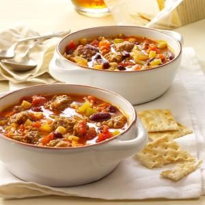 Hearty Sausage Minestrone Recipe