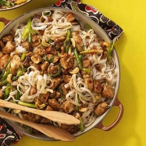 Cashew Chicken with Noodles Recipe