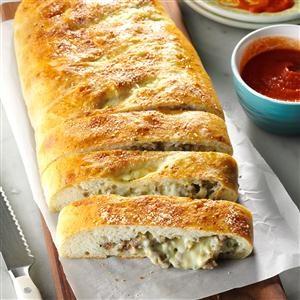 Cheesy Sausage Stromboli Recipe