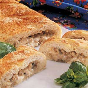 Cheesy Sausage Stromboli Recipe