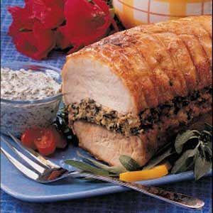 Pork Loin with Spinach Stuffing
