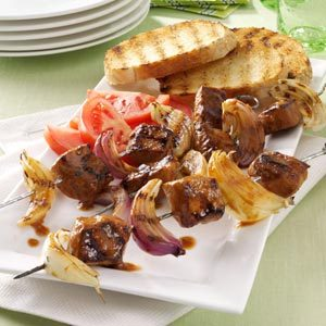 Pork and Onion Kabobs