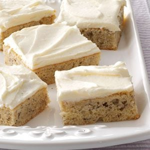 Banana Bars with Cream Cheese Frosting Recipe photo by Taste of Home