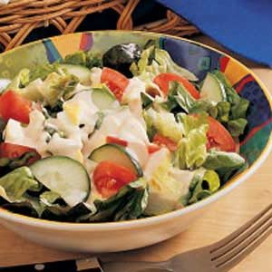 Salad with Creamy Homemade Dressing Recipe