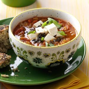 Southwest Vegetarian Lentil Soup Recipe