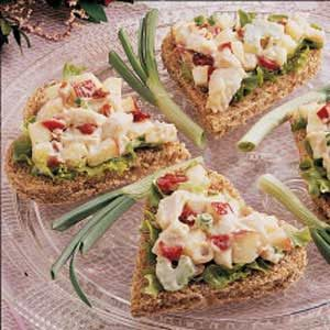 Curried Chicken Tea Sandwiches Recipe