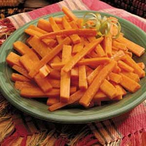 Spiced Carrot Strips Recipe