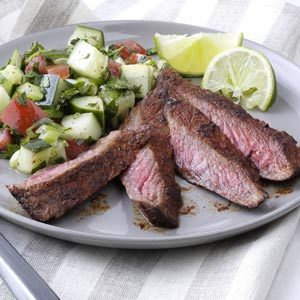 Sizzle & Smoke Flat Iron Steaks Recipe
