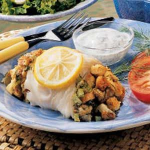 Cod with Fennel Stuffing Recipe