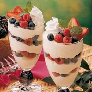 White Chocolate Parfaits Recipe