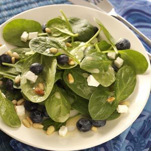 Quick Blueberry Spinach Salad Recipe