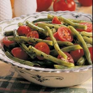 Green Beans with Cherry Tomatoes