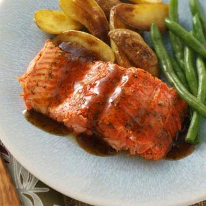 Glazed Salmon Fillet Recipe