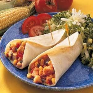 Quick Chicken and Corn Wraps Recipe