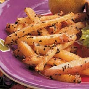 Baked Basil Fries Recipe