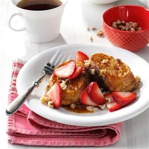 Strawberry-Hazelnut French Toast