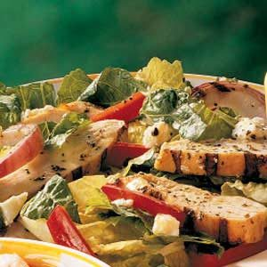 Grilled Chicken Salad with Warm Mustard Dressing Recipe