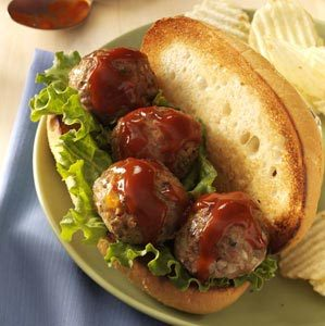 Bacon Cheeseburger Meatball Subs Recipe