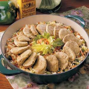 Pork Slaw Skillet Recipe