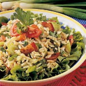 Spinach Rice Salad