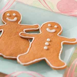 Butterscotch Gingerbread Men Recipe | Taste of Home