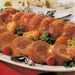 Apricot-Filled Pork Tenderloin