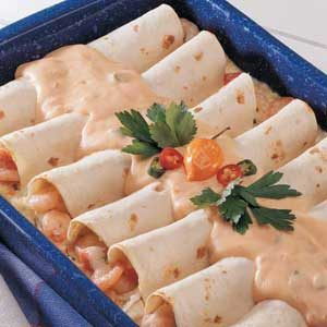 Creamy Seafood Enchiladas