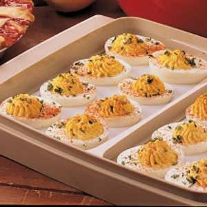 Sweet-Sour Deviled Eggs Recipe