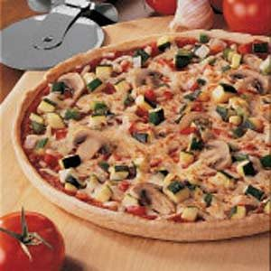 Whole Wheat Veggie Pizza Recipe