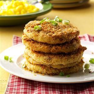 Crispy Mashed Potato Cakes Recipe photo by Taste of Home