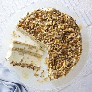 Nutty Caramel Ice Cream Cake Recipe