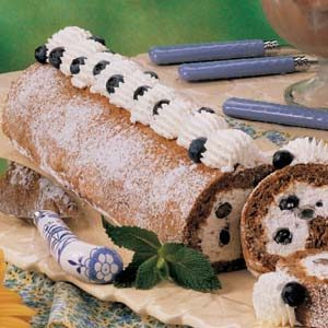 Blueberry Cream Nut Roll Recipe