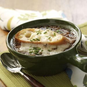 French Onion Soup with Swiss-Topped Toast Recipe