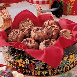 Triple Chocolate Caramel Cookies Recipe