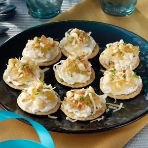 Hawaiian crab canapes recipe taste of home for Easy cold canape ideas