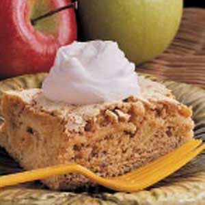 Apple Walnut Snack Cake Recipe