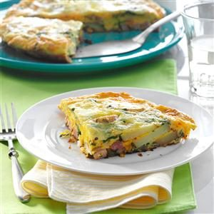 Triple-Cheese Florentine Frittata Recipe