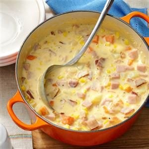 Cheesy Ham Chowder Recipe
